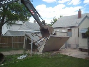 Home in Saskatoon being knocked down