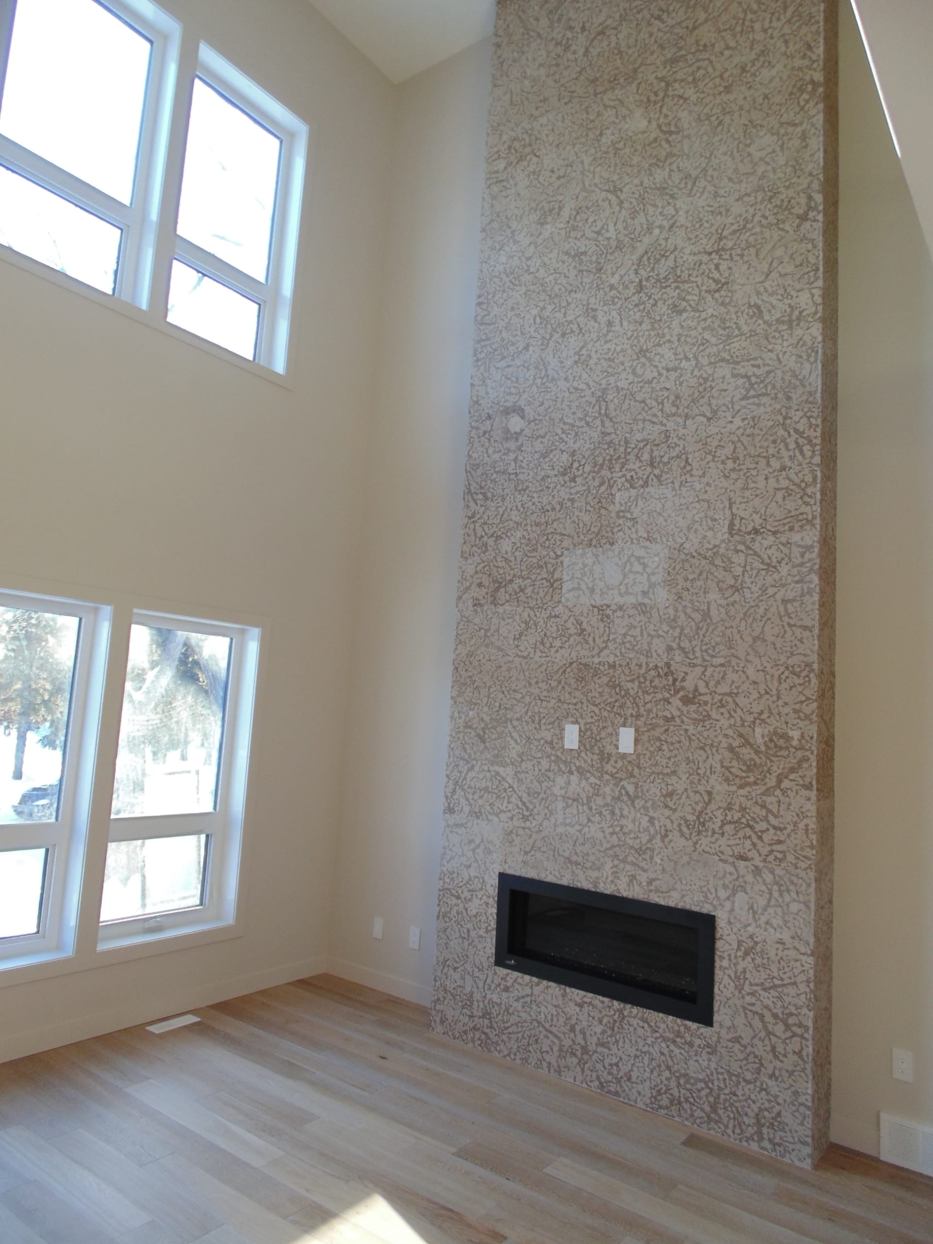 Fireplace in a custom home