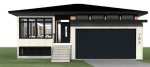 Exterior of raised bunglaw home design