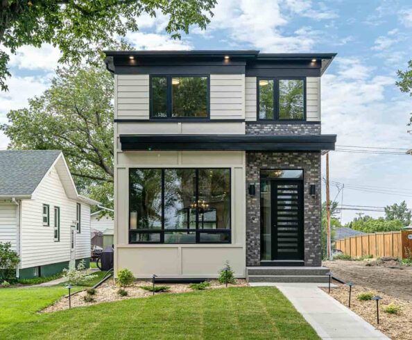 Exterior of Infill show home by Lexis Homes